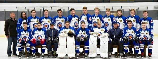 Hokejový tým staršího dorostu Tatranu Sedlčany