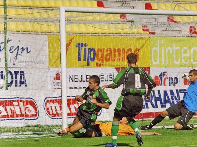 Michal Polodna vstřelil první příbramský gól ve druhé lize, stačil ale jen na bod.