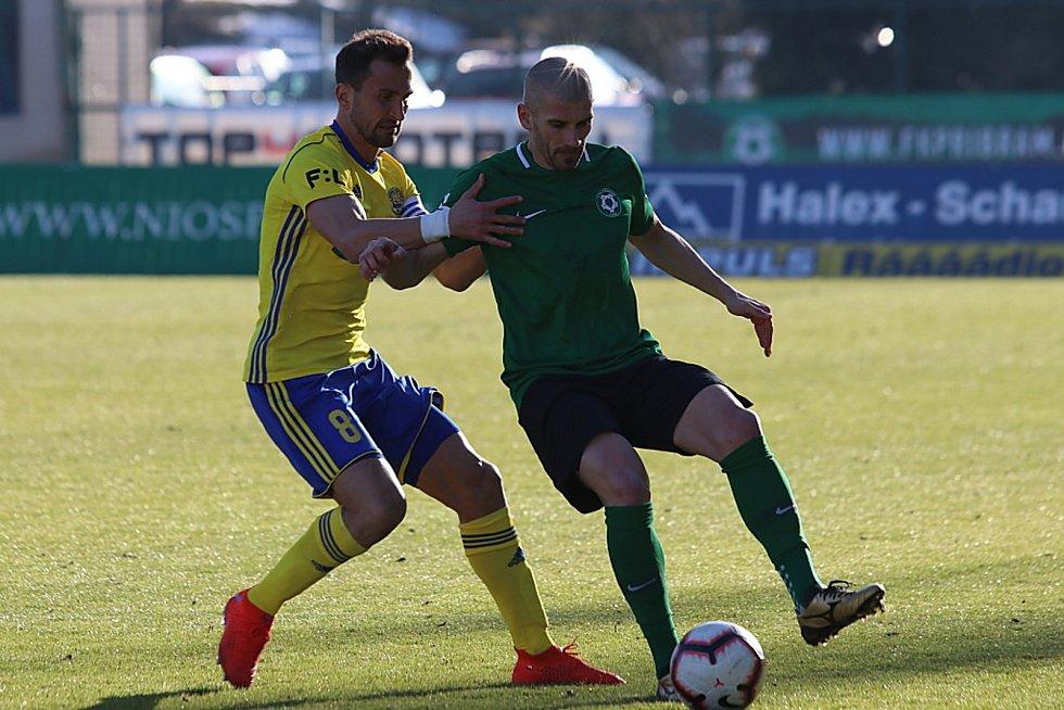 Utkání 21. kola FORTUNA:LIGY 1. FK Příbram - Fastav Zlín 3:2 (1:1).