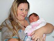 Barunka Klusáková se narodila 19. listopadu s váhou 4,25 kg a mírou 51 cm Ireně a Milošovi z Příbrami. Doma se už na sestřičku těší Irenka a Terezka.