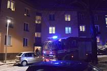 Zásah hasičů v Okružní ulici v Příbrami.
