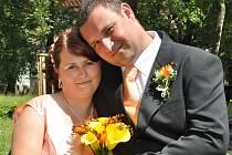 Svatební obřad Ludmily Kočové a Michala Kraifa se konal v pátek 29. června půl hodiny před polednem v příbramském Zámečku.