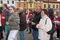 Akce v Sedlčanech, jejíž součástí bylo vytvoření rekordu Nejvíc lidí s františkem na jednom místě.
