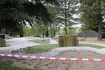 Rekonstrukce minigolfového areálu v Příbrami.