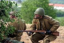 Připomínka bitvy 2. světové války v roce 1945 u Slivice.