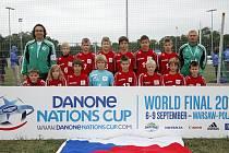 Finále Danone Cupu 2012 ve Varšavě. Kluci z 1.FK Příbram.