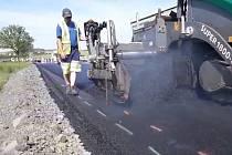 Oprava silnice I/18 v úseku Skalka - Drásov.