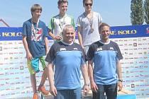 NA STUPNI vítězů stanul ve Slaném nejvýše v chlapecké kategorii dvanáctiletý Matěj Bláha z 1. ZŠ Sedlčany.