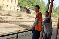 Příbramské vlakové nádraží.