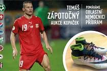 V současné době probíhá dobročinná aukce kopaček Tomáše Zápotočného.
