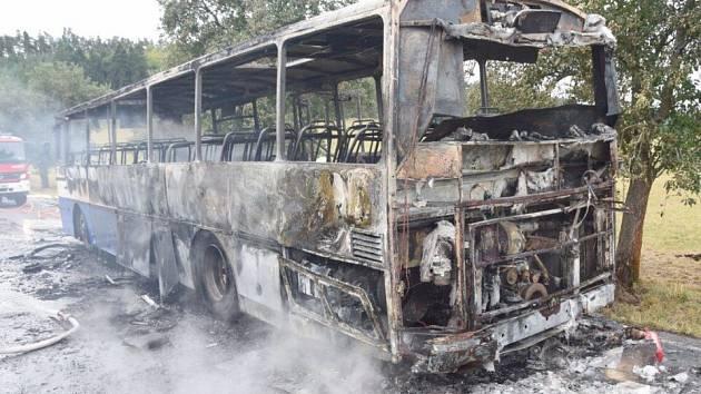 Nehoda autobusu mezi obcemi Mokrsko a Čelina na Příbramsku.