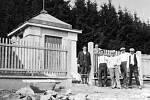 Ve 30. letech  20. století se uskutečnila výstavba vodovodu ve Leleticích, který je i nyní plně funkční. Na snímku je architektonicky zajímavá stavba leletického vodojemu pod Stráží , který slouží dodnes. Fotografie byla pořízena v létě roku 1939.