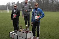 Trojice nejlepších ve 12. ročníku tochovického Krosu Podrejžím.
