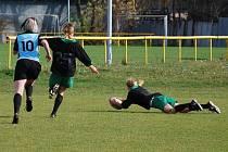 V utkání RC Sedlčany - RC Přelouč takhle získala body Pavla Kuthanová.