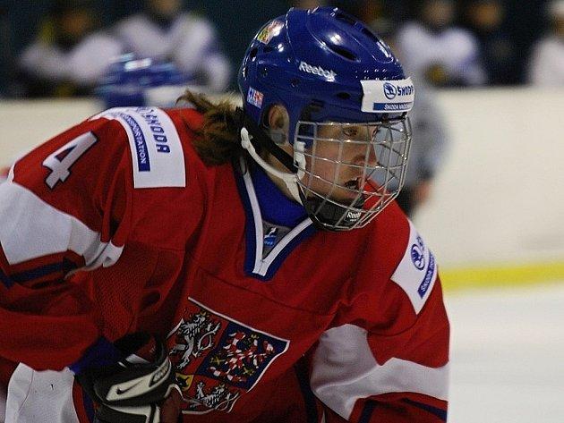 Kateřina Flachsová v dresu národního týmu.