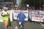 Alena Machová a její snímky z pobytu v Bruselu. Pochod za uprchlíky.