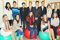 Sportovní týmy příbramské zdravotnické školy.