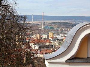 Pohled na město od Svaté Hory.