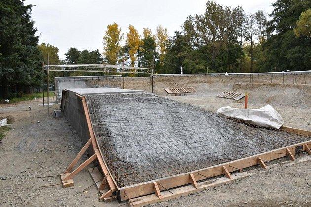 Stavba příbramského skateparku je ve skluzu, otevře se až na jaře.
