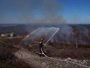 Oheň na Jordánu v CHKO Brdy.