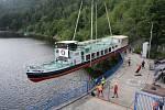 Orlickou flotilu rozšířil parník přivezený z Německa.