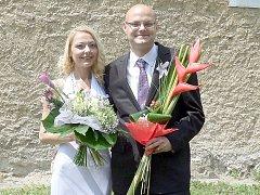 Mária Vépyová z Bratislavy a David Ščibran z Příbrami se vydali na společnou cestu životem v pátek 28. června v poledne na Zámečku v Příbrami.
