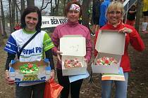 Trio nejlepších žen v Jarní Dražovce (zleva): Kateřina Hradecká, Gabriela Benedová a Markéta Cibulková.