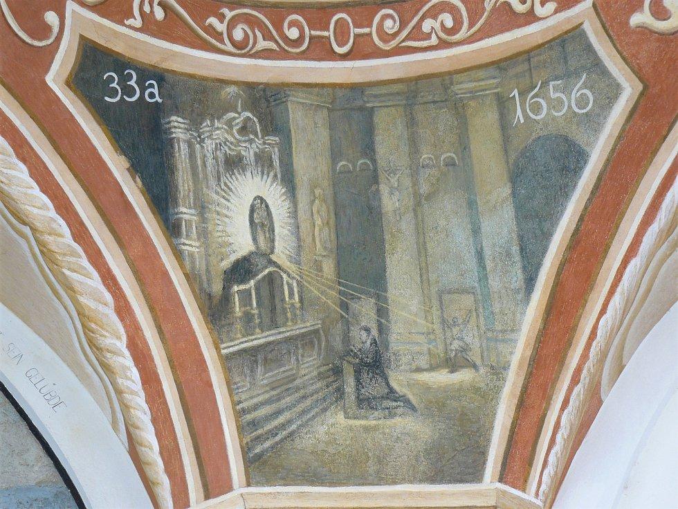 Sto svatohorských milostí: obraz číslo 33a.