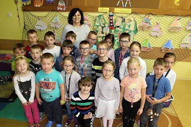 Třída 1.A. Základní školy Pod Svatou Horou Příbram pod vedením učitelky Soni Vančatové.