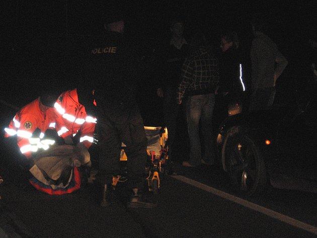 Nehoda na přechodu u Q-klubu v Příbrami