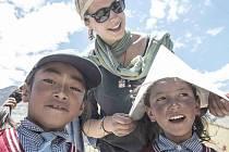 Dobrovolníci Hnutí Brontosaurus v indickém Ladakhu.