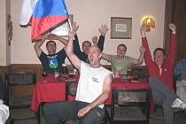 Fotbalové EURO 2008 sledují čeští fanoušci i v rožmitálské restauraci U Fraňků.