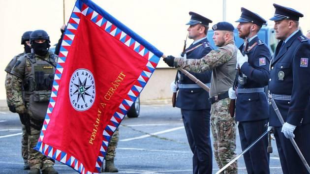 Zásahová jednotka získala symbol své jednotky - prapor.