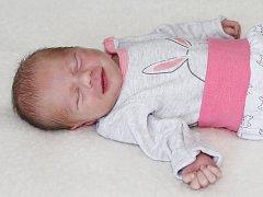 Klaudie Vogeltanzová se narodila s váhou 2,26 kg a mírou 45 cm rodičům Veronice a Martinovi z Holšin. Doma se na sestřičku těší Viktorka (5).