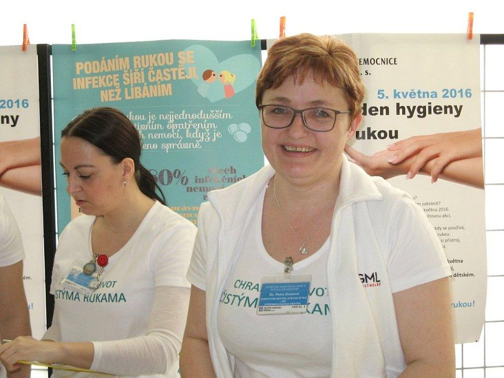 Světový den hygieny rukou v příbramské nemocnici.