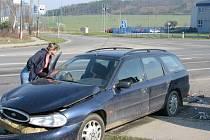 Nehoda v křižovatce na Evropské ulici v Příbrami