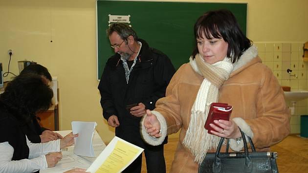Druhé kolo prezidentských voleb v centru Příbrami.