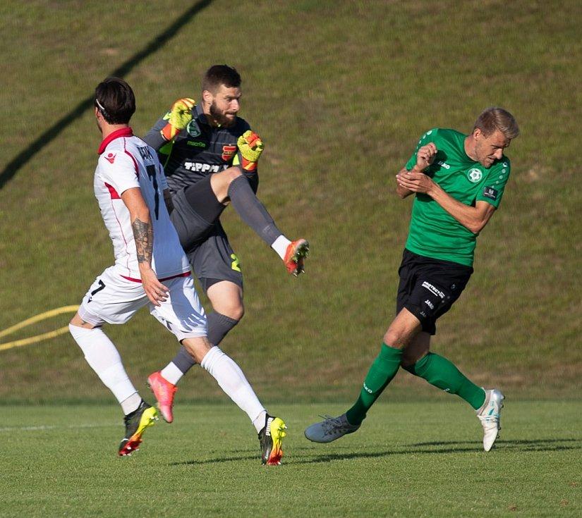 Z přípravného zápasu Příbrami s Honvedem Budapešť, který se odehrál v rámci soustředění v Rakousku.