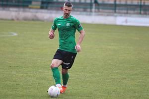 Záložník Příbrami Tomáš Pilík.