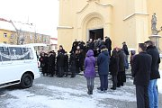 Pohřeb Jindřicha Vařeky st. v Příbrami.