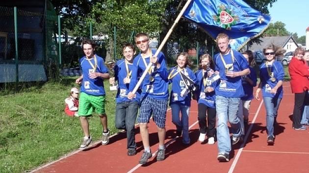 Vítězné družstvo z Nalžovic