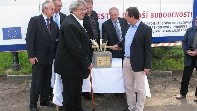 Slavnostní zahájení rekonstrukce náměstí TGM v Příbrami.