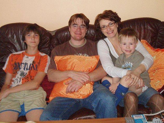 Marcela Albrechtová s rodinou.