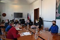 Zasedání krizového štábu města Příbram.