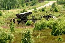 Součástí výzbroje jinecké brigády jsou také raketomety.