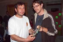 Finále ankety Hvězda okresních trávníků 2012. Vítěz kategorie muži: Petr Lacina z Počepic.