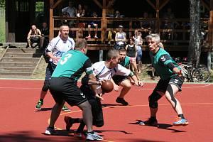 Z utkání 2. ligy národní házené: Rožmitál - Raspenava.