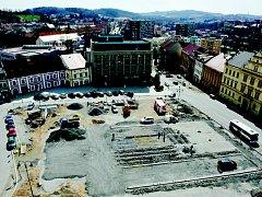 Rekonstrukce náměstí TGM v Příbrami.