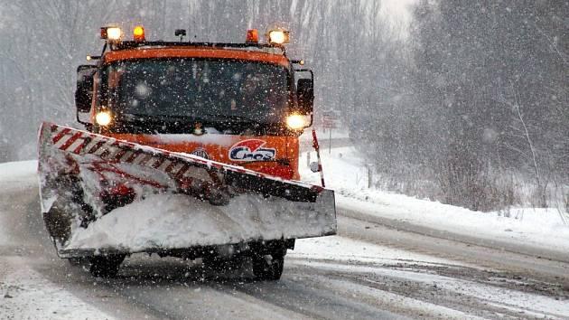 Na Příbramsku napadlo v tomto týdnu už kolem patnácti centimetrů sněhu.