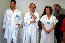 Ze slavnostního otevření opraveného monobloku D3 v příbramské nemocnici.